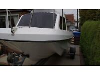 Wilson Flyer 17ft Fishing Boat + Trailer + Outboard Engine