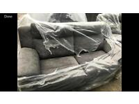 Recliner grey sofa suite 3+3