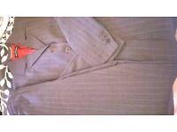 Wardrobe ladies grey pinstripe suit size 10-12