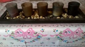 Lovely pebbles candle holder