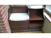 Hallway /Telephone Table with storage and shoe rack