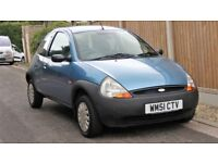 2002 FORD KA 1.3 NOW (51 reg) VERY LOW MILEAGE at 36276 k only.
