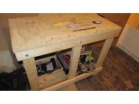 "Sturdy workbench with 6"" Vice"