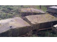 3 Stone pier capping stones / toppers / copings
