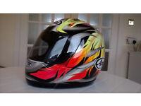 Arai Quantum F Motorcycle Helmet and Smoke Visor, Size Medium 57 – 58