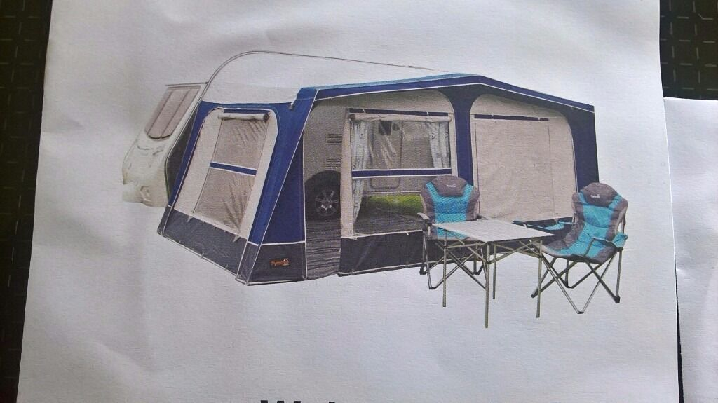BRAND NEW. BOXED. Pyramid Corsican 800 awning. (Charcoal ...