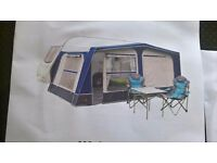 BRAND NEW. BOXED. Pyramid Corsican 800 awning. (Charcoal)Size 750-825
