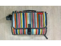 "Skip Hop ""Pronto"" CHANGING BAG and MAT in Metro Stripe"