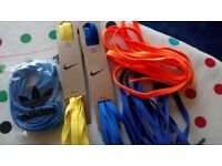 5 pairs Nike/Adidas shoestrings, various colors, 45inches, NEW