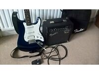 squirer Stratocaster and fender amp