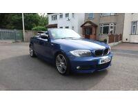 BMW 1 SERIES 2.0 118D SPORT PLUS EDITION 2d AUTO CONVERTIBLE *Le Mans Blue & Cream Leather*
