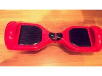 Red hover board with BLUE LED lights and Porsche Style key fob