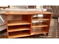 Solid Oak/ Pine Shelving Unit Bookshelf Storage TV Shelf Shelves Wooden Removable Height Adjustable