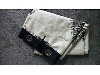 CURTAINS Black and white ring top eyelet Full length pair