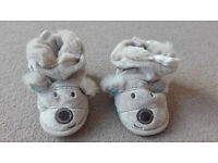 Next baby boy booties 18-24 months