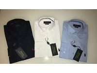 ralph lauren polo mens shirt long sleeve fitted blue white navy joblot designer 2017 new button up