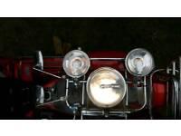Vespa px lml front rack spot lights and mirrors mod
