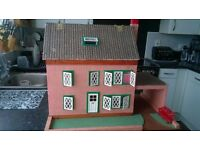vintage dolls house and funiture