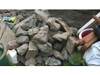 Stone for garden walls, hedging, rockeries etc...FREE.