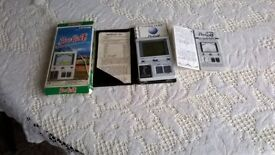 Hand held vintage Pro golf game with full instructions and batteries