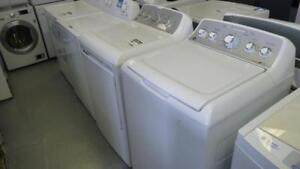 24- Laveuse Sécheuse GE Haute Efficacite HE  Washer Dryer