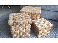 Set of x3 storage boxes