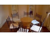 Glass Dining Table and 6No Chairs
