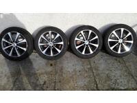 15 alloy wheels + 4 x tyres 195 50 15