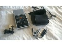 Hitachi TRQ-299 Cassette Recorder Carry Case and x2 Mic's