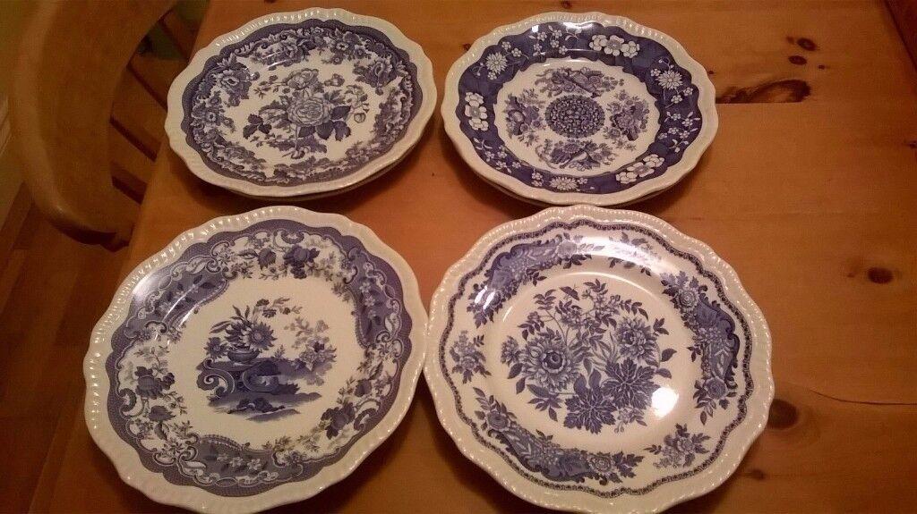 9 Spode Dinner Plates £6 Each