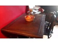 Dark Wood Dining Set (table and four chairs) £100 ONO