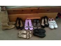 bundle of size 4 shoes boots trainers heels