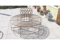 Alium™ Trentino Steel Circular Garden Tree Seat - Full Circular