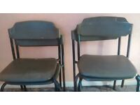 free to collect ,4 stackable chairs