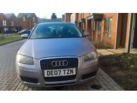 Audi A3 07 reg in mint condition for sale. £2300 ono