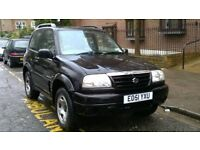 SUZUKI GRAND VITARA 1.6i SE 4X4 2002 51 REG MET BLACK 3 DOOR HATCH 5 SPEED MANUAL PAS ONLY 62K FSH!