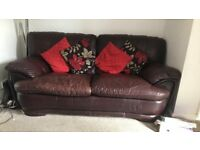 House clearance - brown leather sofa