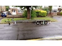 Triple axle flatbed trailer gross weight 3150kgs by Sea Otter