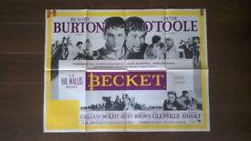 becket ' original vintage 1960s cinema poster