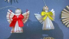 Christmas Decorations made of natural material, new