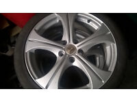 Wolf Race 17in Alloy wheels and Tyres 215-45-17 5 stud pattern (off vauxhall zafira) £200 ono