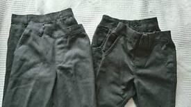 Grey boys school trousers. 2x George + 2 x Next 3-4yrs