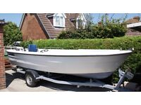 18ft Swedish Ryds Fishing Boat + Roller Coaster Trailer + 2 Outboard Engines