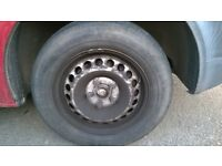 4 VW Transporter T5 Original wheels with tires/hubs