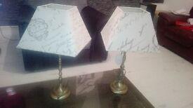 2x living room / bedside lamps