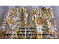 Curtains (x5) pairs sizes and colours as shown in photos