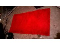 Shaggy red rug by Next excellent central London bargain
