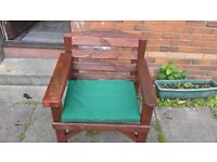 Garden bench & chair - solid wood