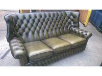 Chesterfield wingback sofa