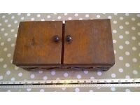 Lovely vintage wooden sewing box